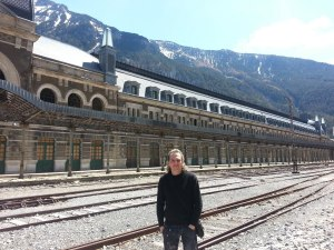 España (Canfranc, Aragón, Huesca) Estación Internacional de Ferrocarril
